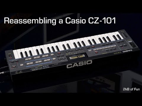Reassembling A Casio CZ 101 After Repair