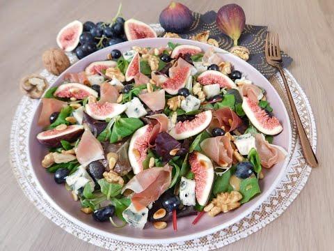 salade-d'automne-aux-figues-roquefort-&-noix