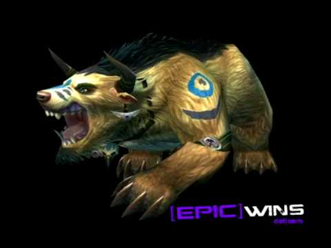 WoW Patch 3.2 Tauren Druid Bear Form Preview - YouTube