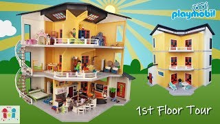 Playmobil Modern Dollhouse Tour! Large 3 Story Mansion with 8 Add On Sets! Part 1