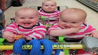 Funny Twin Babies Laughing and Playing Together Compilation - Cute Baby Videos