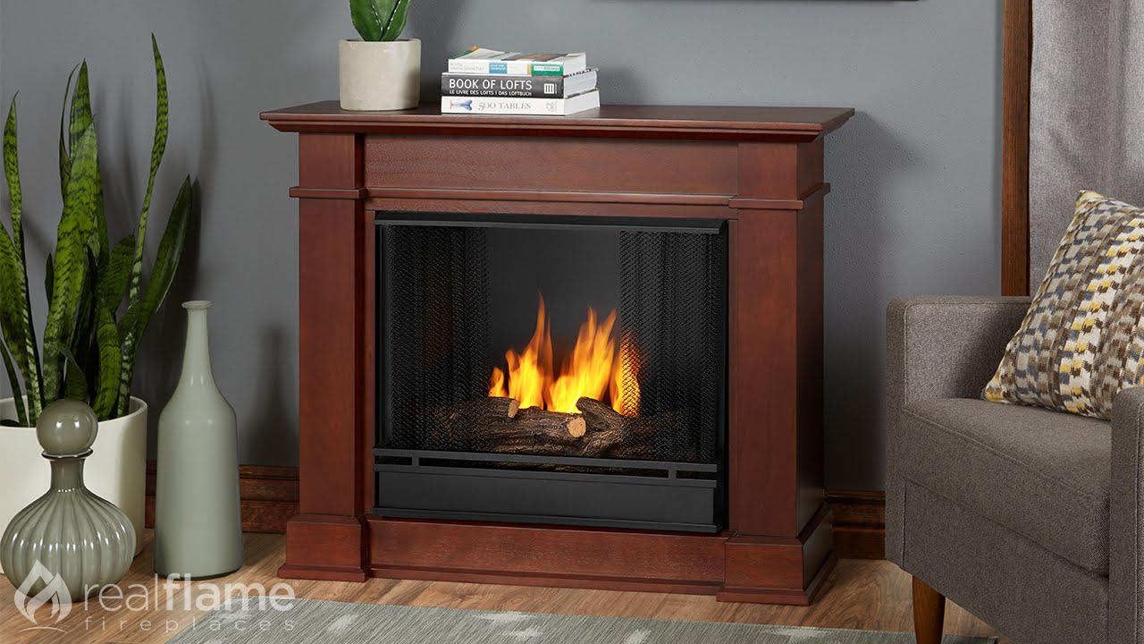real flame devin fireplace mantel youtube