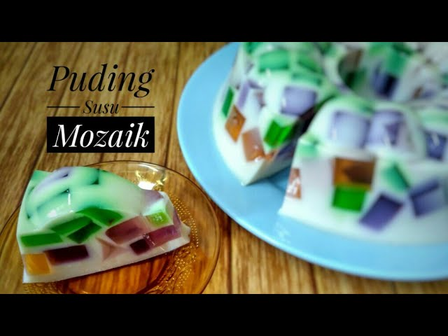RESEP MEMBUAT PUDING MOZAIK SUSU - Puding Mozaik || How To Make