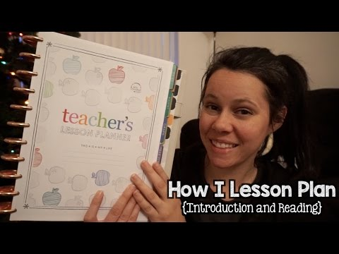 How I Lesson Plan {Introduction And Reading}