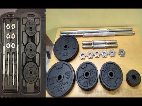DOMYOS Exercise Kit 50kg Unboxing & Review | Decathlon Bodybuilding | Budget Training Kit