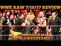 WWE Raw 7 10 17 Full Show Review Results SUMMERSLAM FATAL FOUR WAY TEASED, ANGLE REVEALS TEXTS