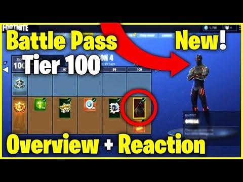 Season 4 Battle Pass Tier 100 + Season 4 Trailer  | Overview + Reaction - Fortnite Battle Royale