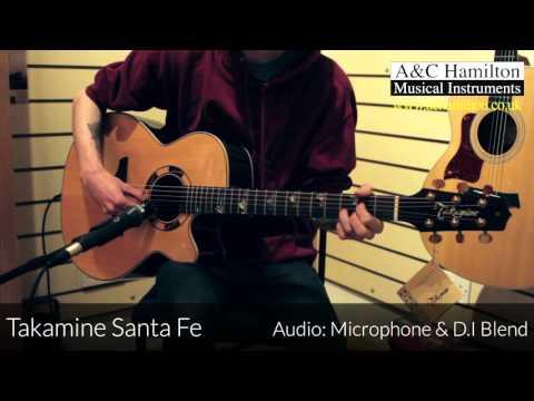 Takamine TSF48C Santa Fe NEX Legacy Series Demo - D.I. & Microphone + Blend