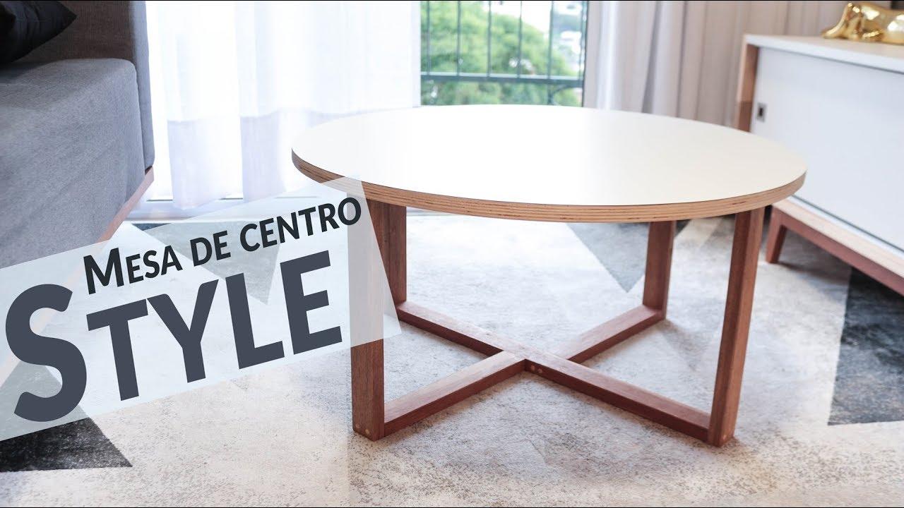 Diy mesa de centro style barata e linda youtube for Mesa centro barata