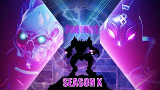 🔴FORTNITE SEASON 10 RIGHT NOW! *NEW* BATTLE PASS SKINS AND GAMEPLAY!