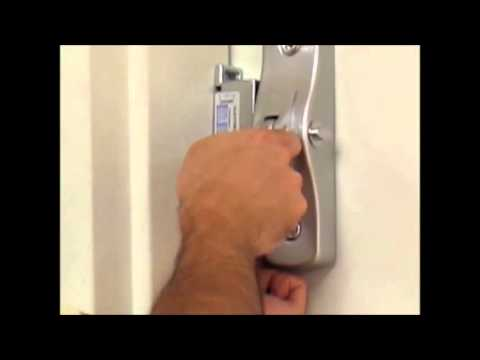 100 Series Panic Bar Electric Strike On Door Frame Youtube