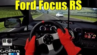 🔴► Ford Focus RS - Racha Sinistro - Project CARS - GoPro - Logitech G27 - 3 Monitores