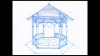 How To Draw A Gazebo