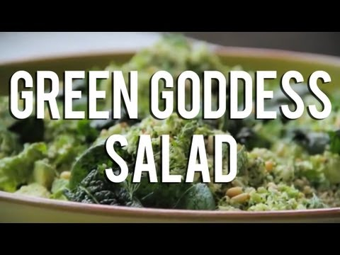 The Raw Chef TV | Raw food green goddess salad recipe