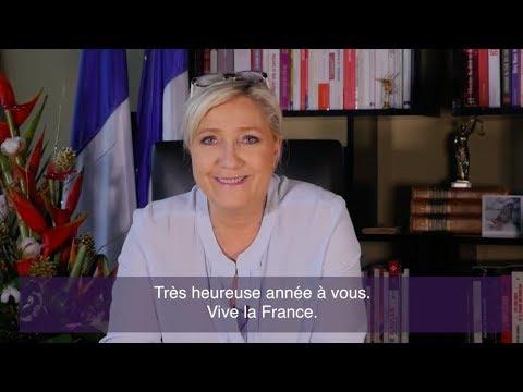 Marine Le Pen présente ses vœux pour l'année 2018