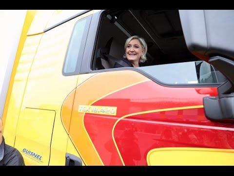Marine Le Pen visite une grande entreprise française de Transport  Marine 2017