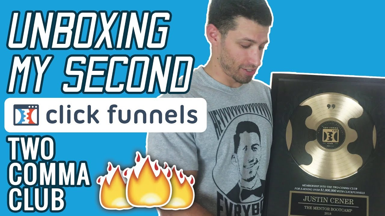 Unboxing My SECOND ClickFunnels Two Comma Club Award - Thank You ClickFunnels!!