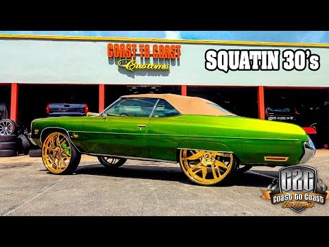 NAVA'S 1972 IMPALA SQUATED on 30's