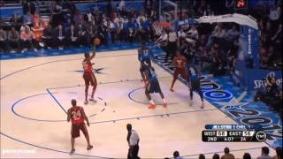 NBA All Star 2012 game ALL DUNKS compilation