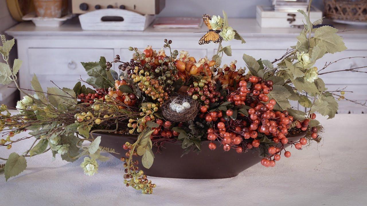 Fall Thanksgiving Wallpaper Autumn Berry Table Arrangement Floristry Tutorial Youtube