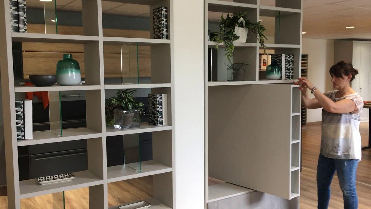 Libreria Bifacciale Con Porta Tv.Libreria Bifacciale Vitalyty Di Colombini Con Porta Tv Girevole