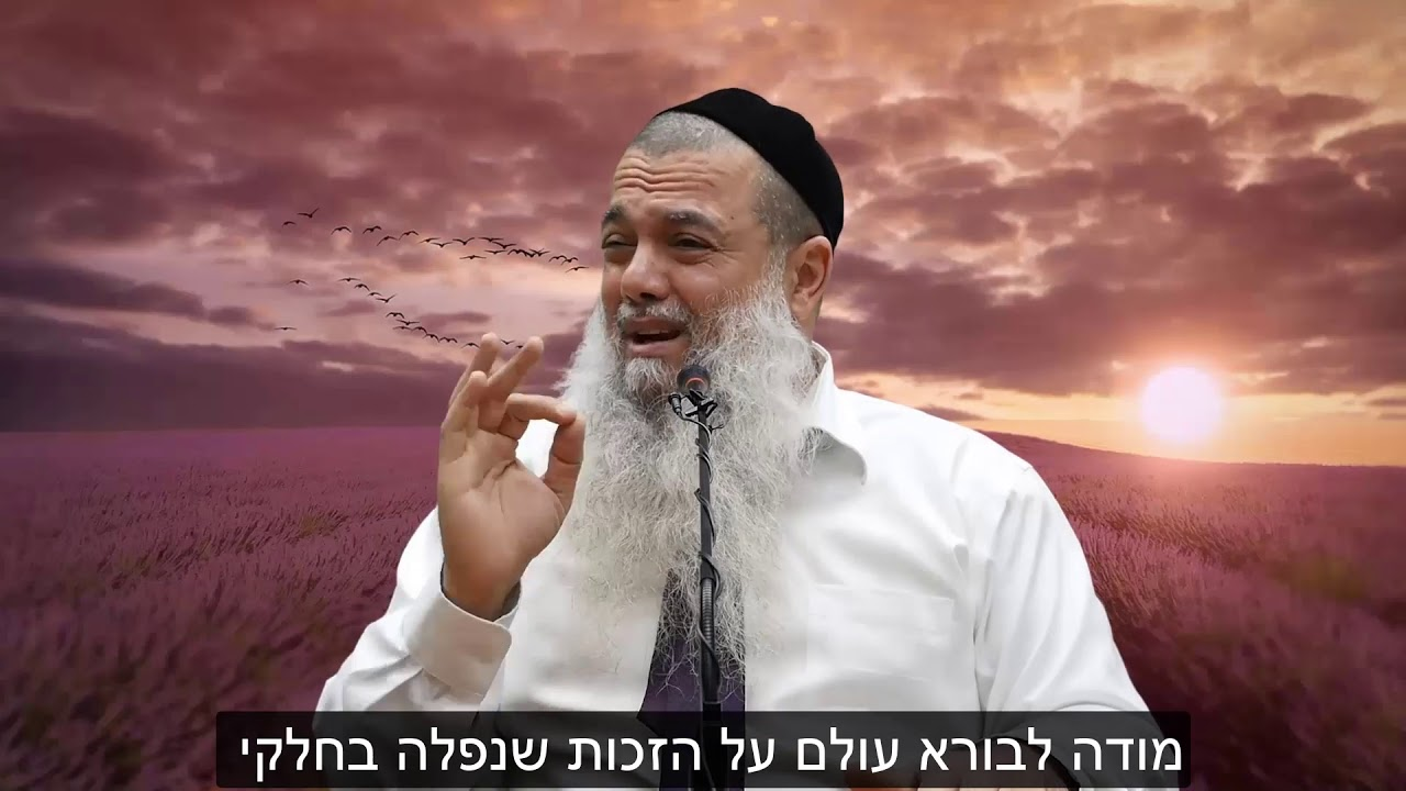 הרב יגאל כהן - קצרים   כשאתה הולך עם האמת והטוב - באה לך השמחה [כתוביות]