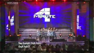 4Minute Live Performance Hot Issue + Huh