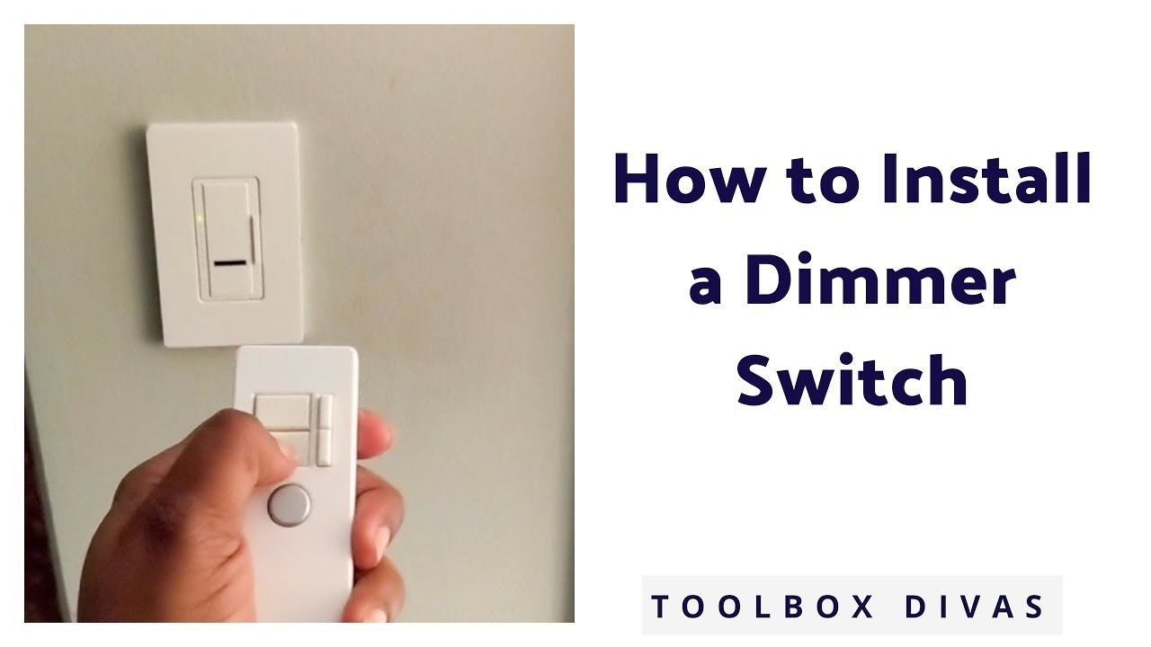 How To Install A Dimmer Light Switch  Single Pole