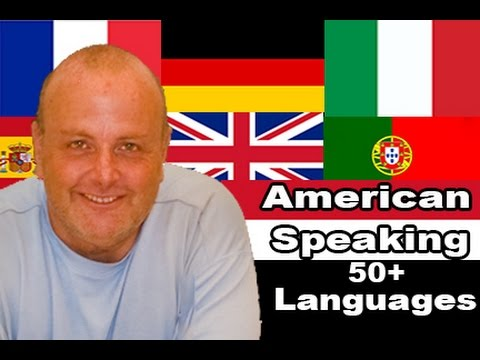 American Polyglot Speaking over Fifty Languages