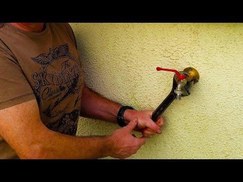 How To Install An Outside Tap / Faucet .. Easy Diy