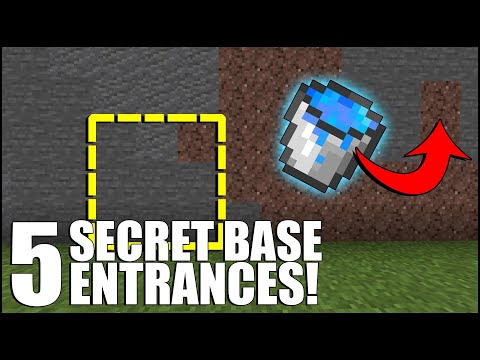 5 SECRET Base Entrances In Minecraft Bedrock!