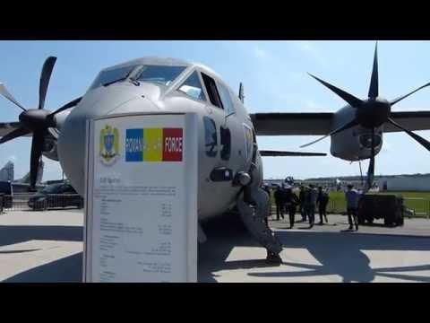 ILA 2014: Romanian Airforce C-27 Spartan landing at Berlin-Schönefeld