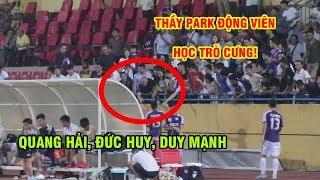 Thầy Park động viên Quang Hải, Duy Mạnh sau trận hòa của Hà Nội FC với CLB 4.25 SC