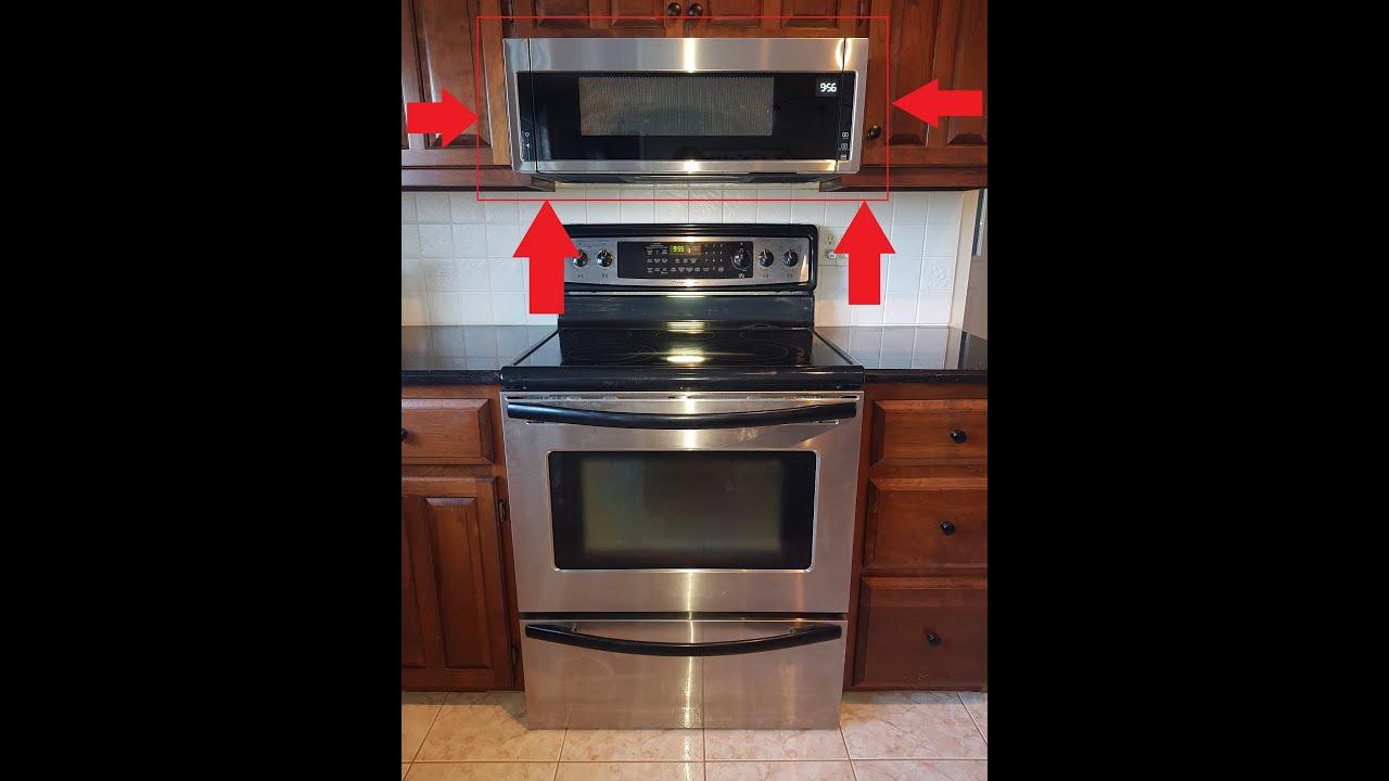 diy over range slim line microwave install