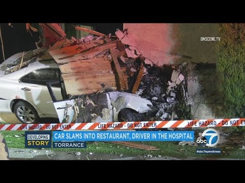 Suspected DUI driver injured after slamming into Torrance karaoke bar I ABC7