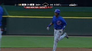 CHC@CIN: Castro hits a three-run shot in his debut