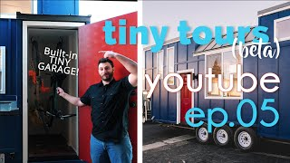 California Tiny Tours  Ep. 05 : 10x24 Tiny House With Garage!