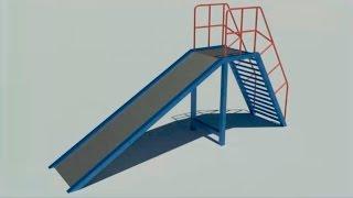 3d моделирование и визуализация горки в AutoCAD 2016
