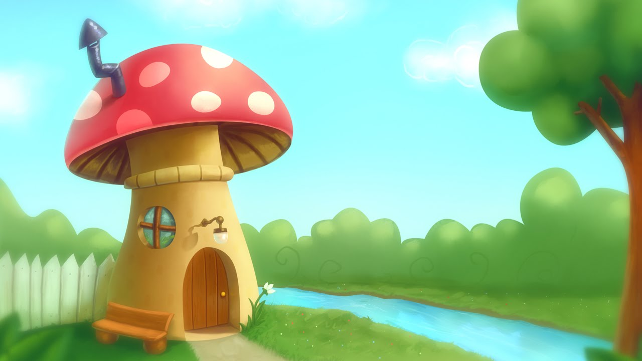 Mushroom house fantasy speed digital painting illustration for Digitally paint your house