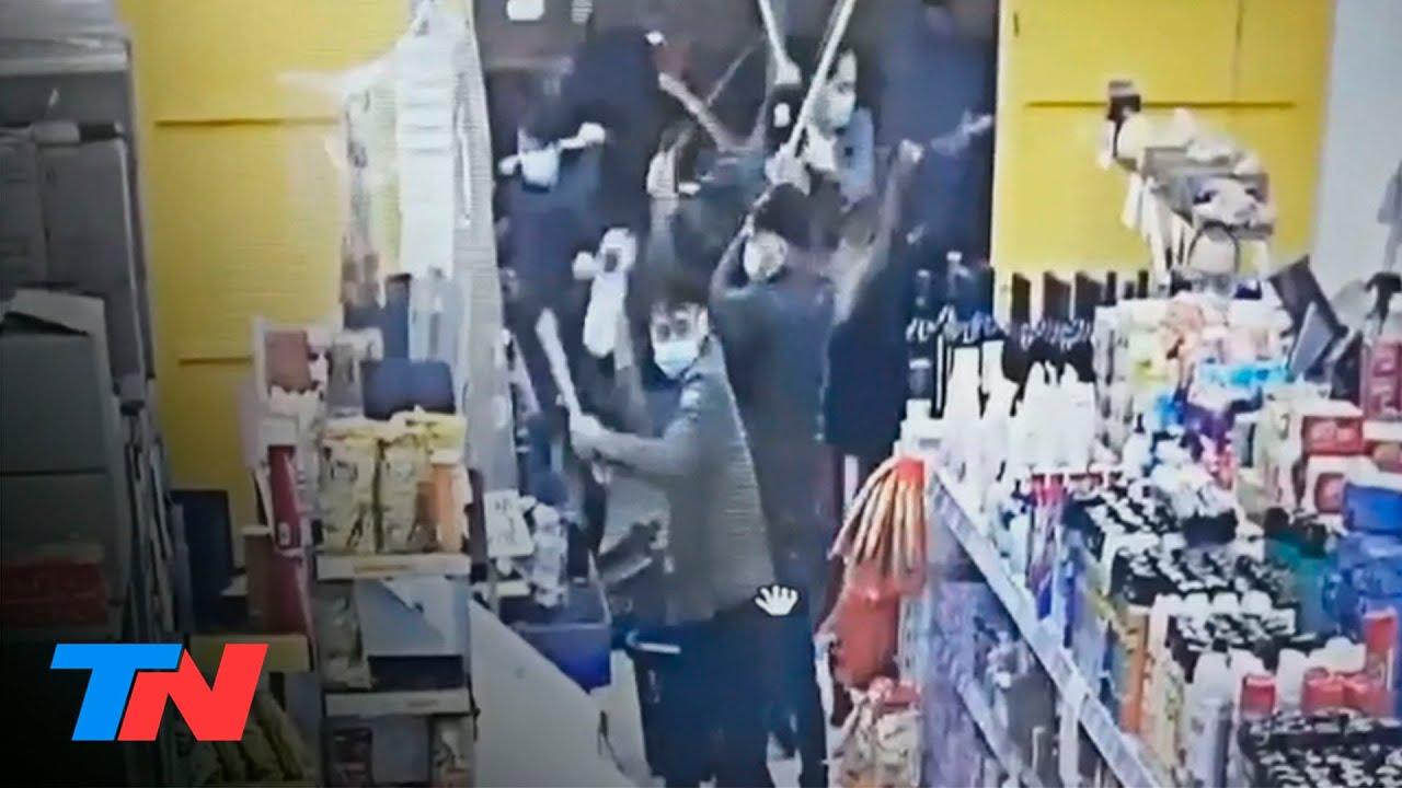 Brutal ataque de la mafia china en La Plata: entraron a romper un super e hirieron a dos empleados