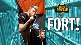 FORTNITE FORT IN THE LIBRARY