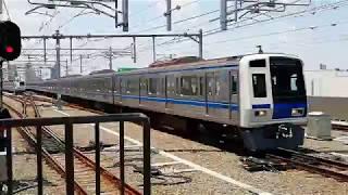 【西武鉄道】6000系機器更新車(SiC-VVVF) 石神井公園駅到着→発車
