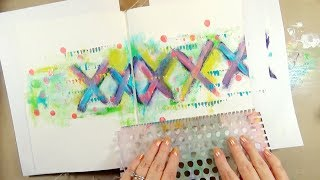 Art Journal Background Technique | Finger Painting with Dina Wakley Paints