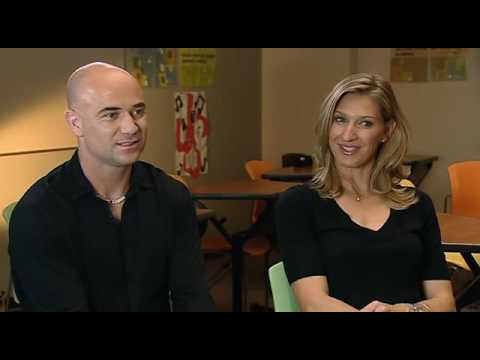 Andre Agassi And Steffi Graf On INSIDE SPORT (BBC) - PART 2 Of 3