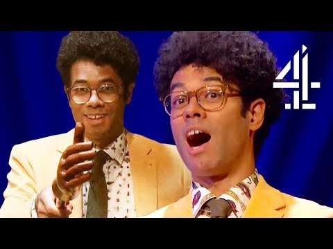 10 Minutes of Richard Ayoade's Life Advice & Amazing Suit Collection From The Crystal Maze