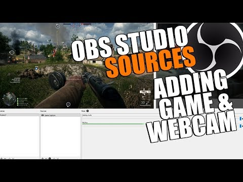 OBS Studio Tutorial Recording Game & Webcam | OBS Multiplatform