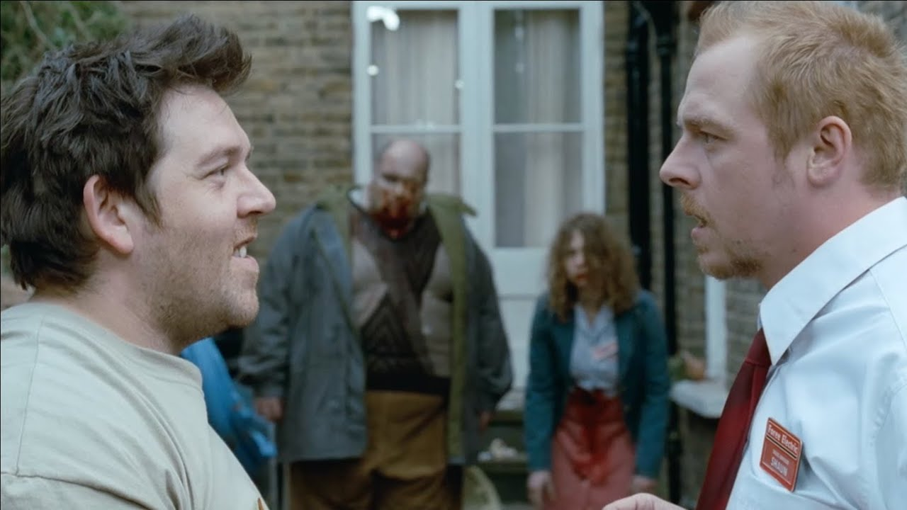 Shaun of the Dead (2004) - 'Throwing Records' Clip | Film Review Online
