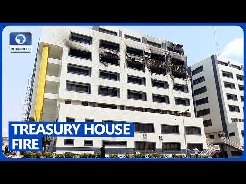 Fire Guts Nigeria's Treasury House In Abuja