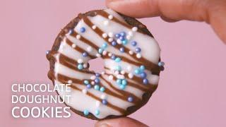 Chocolate Doughnut Cookies