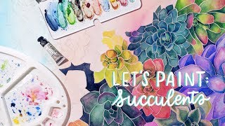 Paint With Me | Starting a GIANT Painting + Endless Succulents! • Cissy's Art Café